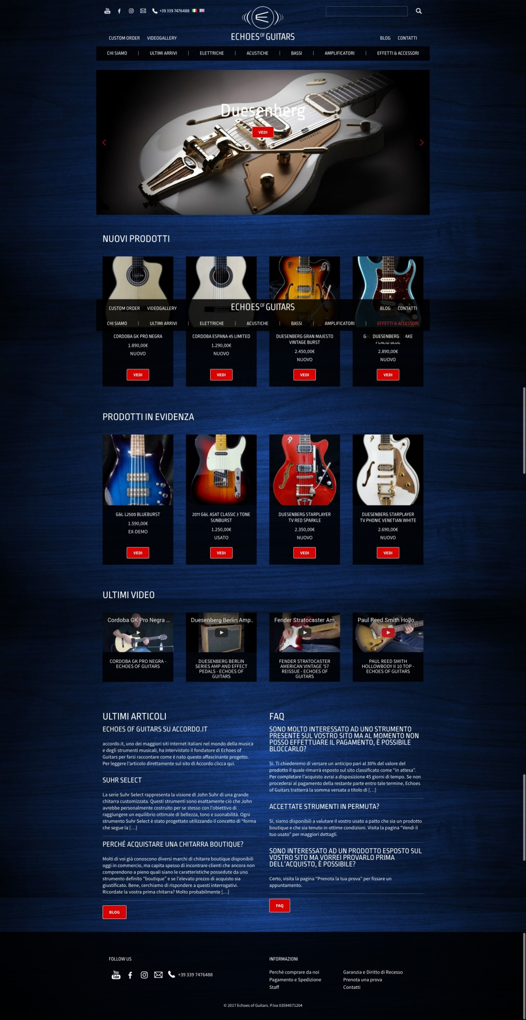 Studio Youtool homepage Echoes of Guitars