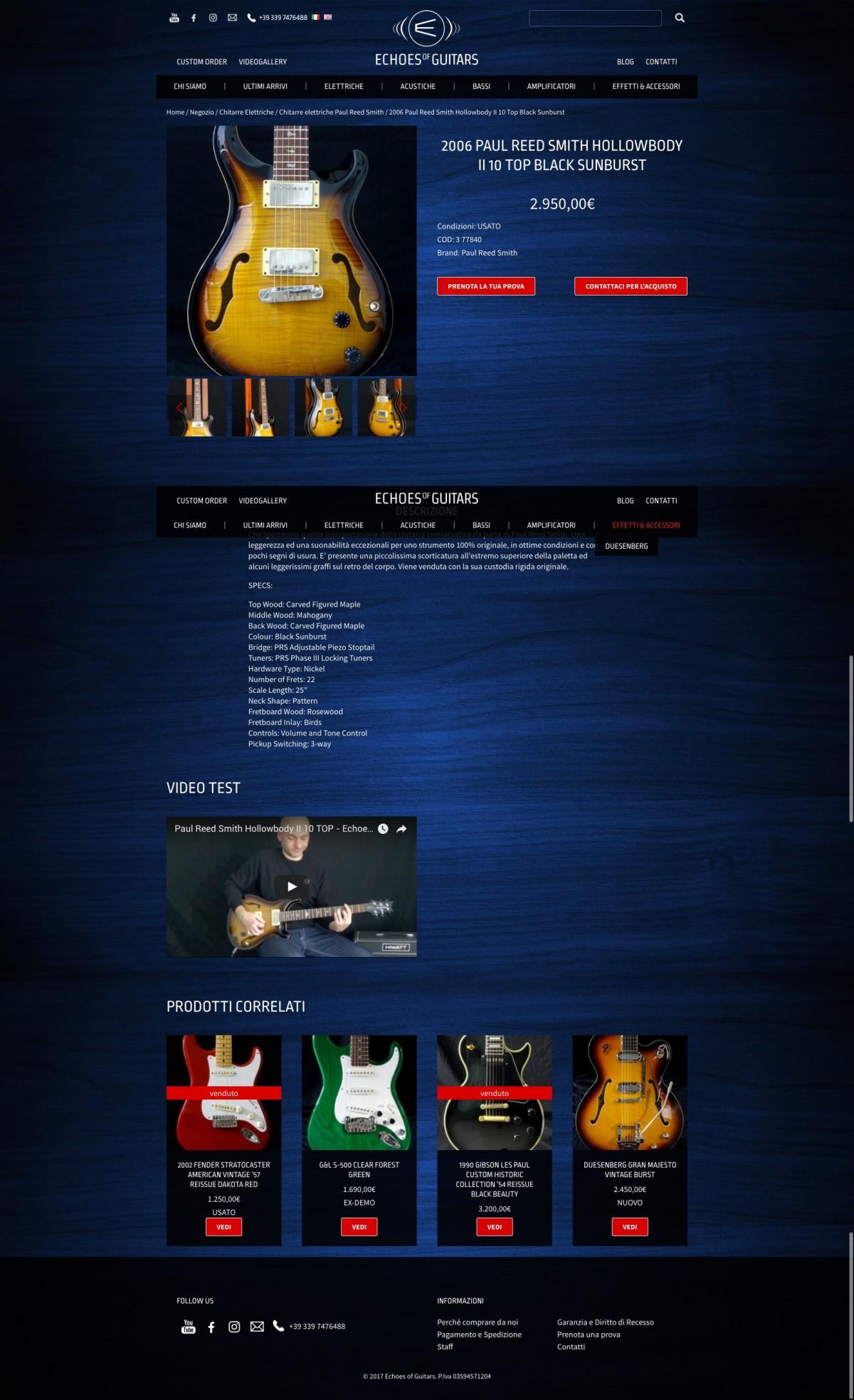 Studio Youtool scheda prodotto Echoes of Guitars