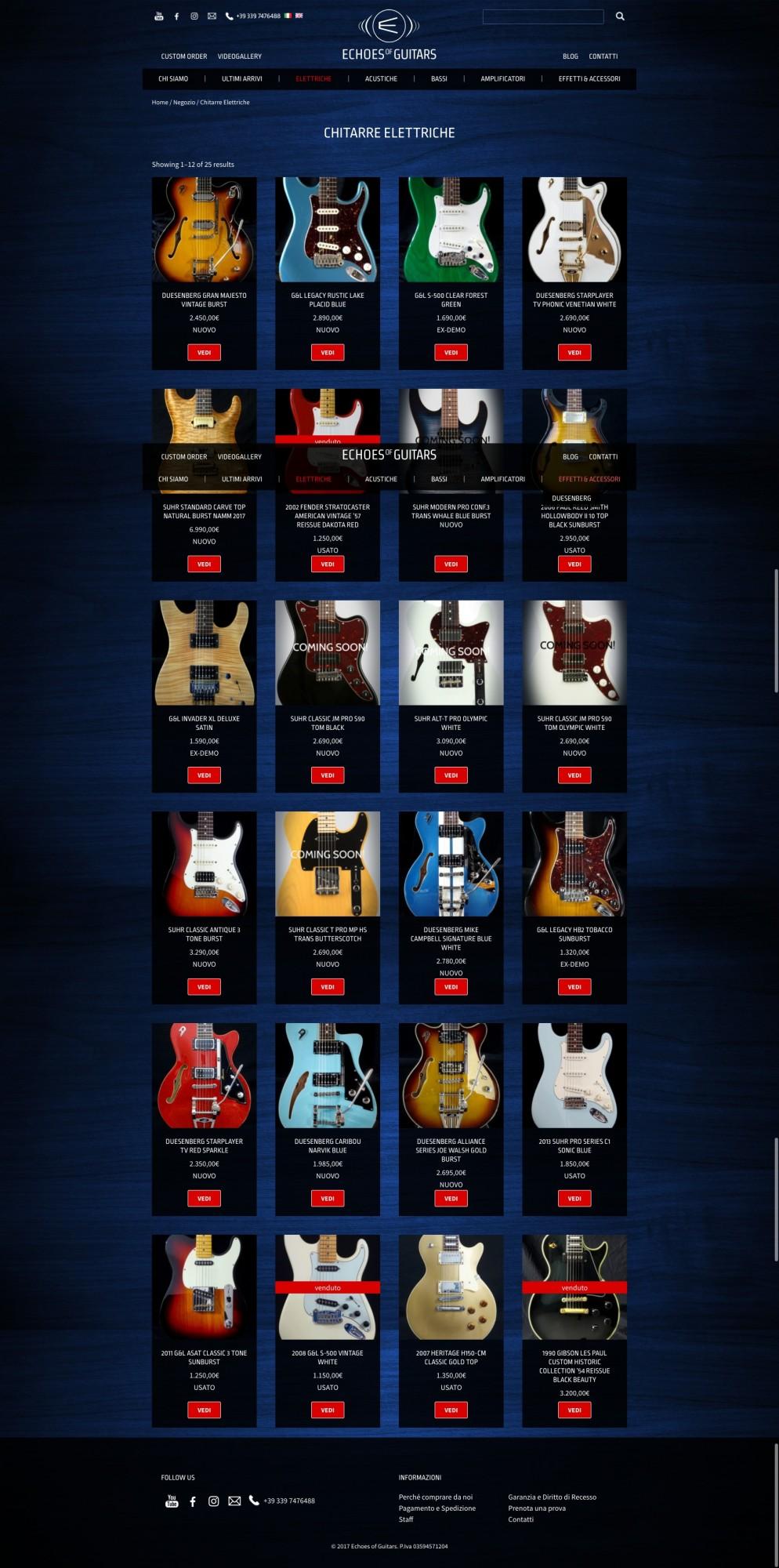 Studio Youtool sezione chitarre Echoes of Guitars